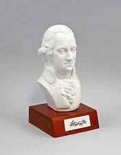Porzellanfigur Büste George Washington Lindner Bayernheller Holzsockel 9986116