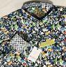NWT Robert Graham Small Aragon Abstract Multicolor Flip Cuff Button Up Shirt