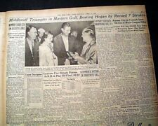 THE MASTERS TOURNAMENT Cary Middlecoff Wins Golf Major at Augusta 1955 Newspaper