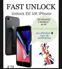 "iPhone XR,X,8,7,6s,6,SE,5,4,3gs All ""EE/T.MOBILE,ORANGE""Uk""Network Unlock ✅✅✅"