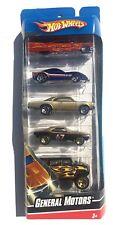 HOT WHEELS GIFT PACK GENERAL MOTORS 67 CAMARO, CORVETTE, CADILLAC 5 CAR SET