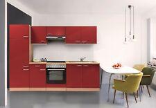 Cuisine équipée kitchenette Blocs Vides 270 CM Hêtre Rouge respekta