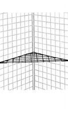 Triangle Grid Shelf in Black 24 x 24 x 32 Inches