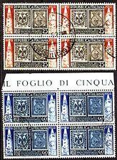 Italia 1952 - Modena e Parma - serie in quartina usata/@