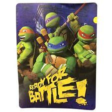 Teenage Mutant Ninja Turtles Battle Boys Raschel Fleece Blanket Throw Twin 60x80