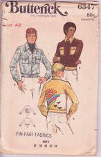 """6347 BUTTERICK c.1970s - Short JACKET - MENS Chest Sz 42"""""""