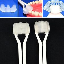 3 Sided Toothbrush Special Needs For Adults 4 Colors Random Tooth Cleaner Wash