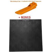 1 Authentic LEGO Separator. Plus Bonus Black 10 x 10-inch compatible base plate