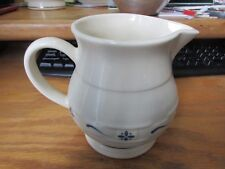 Longaberger Pottery Woven Traditions Blue Pitcher Mint Made In Usa