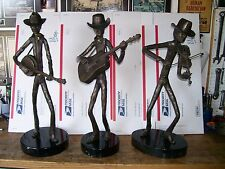 """Ruiz Bronze Art Sculptures 3 Statues 27"""" High Country Band Shipping Negotiable"""