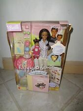 BARBIE HAPPY FAMILY MIDGE & NIKKI AA 1ST BIRTHDAY DOLL NRFB DAMAGED BOX