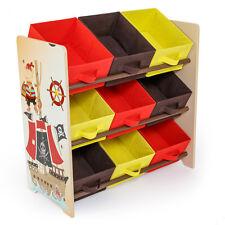 Meuble de rangement pour enfant avec 9 Bac de stockage motif pirates