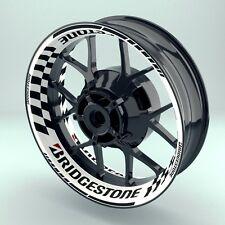 """Felgenaufkleber Motorrad  Felgenrandaufkleber Premium Wheelsticker """"Bridgestone"""""""