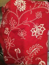 IKEA ALVINE FLOR RED WHITE JACOBEAN FLORAL (2 Pc) FULL/Qu DUVET COVER +KING Sham