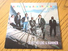 """HUEY LEWIS & THE NEWS - IT HIT ME LIKE A HAMMER   7"""" VINYL PS"""