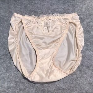 Vintage Victoria Secret 100% Antron III Nylon Hi-cut Panties Small  as-is
