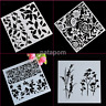 Plastic Layering Stencils Template DIY Painting Tool Polka Dot Flowers Tree 1pc