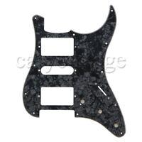 HSH Pickguard for Strat ST in Black Pearl Electric Guitar 2-Humbucker