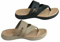 NEW SKECHERS WOMENS ON THE GO LUXE COMFORTABLE LEATHER THONGS SANDALS
