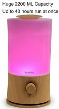 BlueHills Extra Large 2000 Ml Essential Oil Diffuser Humidifier Wood Grain