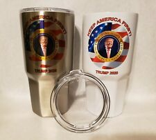 TRUMP 2020 Stainless Steel 30 oz Insulated Double Wall Tumbler - Silver or White