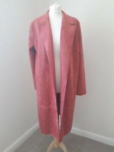 ZARA Faux Suede Midi Jacket * Dusky Fuscia Pink * Office & Occasion * Sz XL