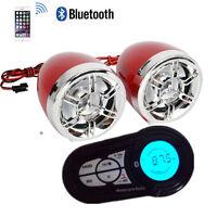 Motorcycle ATV UTV Speakers Audio Sound Stereo System Bluetooth MP3 FM Radio