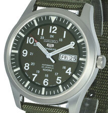 New SEIKO 5 AUTOMATIC MILITARY KHAKI SNZG09J1