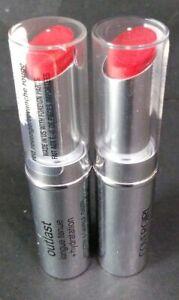 Lot of 2 CoverGirl Outlast Longwear Moisture Lipstick 920 925 Red Revenge/Rogue