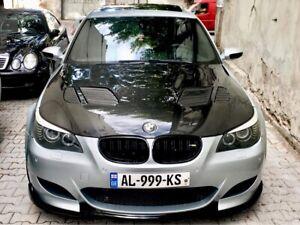 Fiber Pattern Front Lip HG Look For 06-10 BMW E60 M5 Factory Bumper Sedan