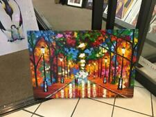 LEONID AFREMOV ORIGINAL CANVAS OIL PAINTING W/ CERTIFICATE - FAREWELL TO ANGER