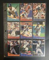 Rare 9 Card Full Set Promotional Sample 1994 Leaf MLB Baseball