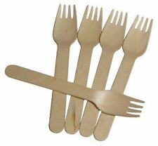 Biodegradable Tableware: Wooden Forks Pk 100