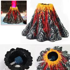 Volcano & Air Bubble Stone Rockery Oxygen Pump Aquarium Fish Tank Ornament Decor