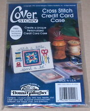 """""""Stitch a Little, Spend a Lot"""" Decorative Cross Stitch Credit Card Case Kit NIP"""