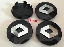 4x57mm For RENAULT Black Wheel Center Caps Logo Emblem Badge Hub Caps Rim Caps