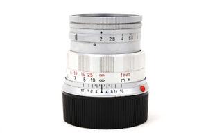 EX+ Leica Leitz Summicron M 50mm f/2 Rigid No.214xxxx Made in Germany Silver