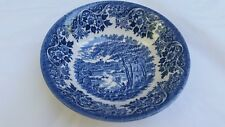 """English Scene Blue 6 1/8"""" Coupe Cereal Bowl by Churchill FISHING CASTLE"""