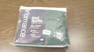 NOS Performance Hunter Green Bed Skirt, Green Full Size Bed Ruffle