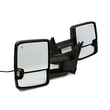 For 03-06 Silverado Sierra Tow Mirror Power+Heated+LED Signal Backup Lamp Black
