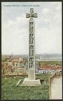 "Whitby, North Yorkshire. Caedmon's Cross, St.Hilda's Church. ""Celesque"" Postcard"