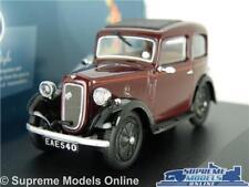 AUSTIN SEVEN 7 RUBY MODEL CAR 1:43 SCALE MAROON OXFORD DIECAST 43RUB001 K8