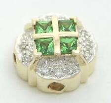 KLEIN SLIDE DIAMOND GREEN GARNET SLIDER CHARM NEW