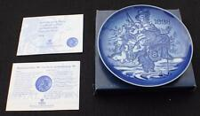 "NIB 1998 ROYAL COPENHAGEN Porcelain GRAND PARENT'S - GOING FISHING 5""d Plate 1st"
