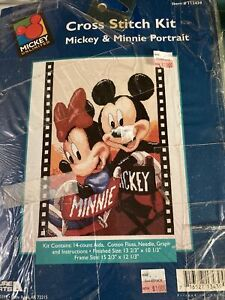 Disney Mickey And Minnie Mouse cross stitch kit Movie Director Chairs Film Frame