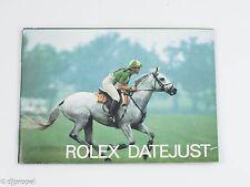 Original Rolex Datejust English Booklet Dated 1987!
