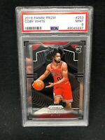 COBY WHITE 2019/20 PANINI PRIZM #253 RC ROOKIE CARD CHICAGO BULLS SP PSA 9 A98