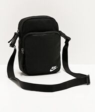 Nike Heritage 2.0 Black Shoulder Bag Crossbody Travel Small Items Bag BA5898