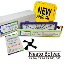 High Capacity 7200mAh Lithium Ion Battery for Neato Botvac D80 free Brush+Filter