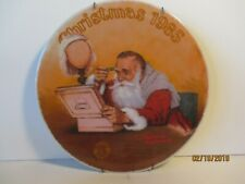 "Norman Rockwell ""Granpa plays Santa"" - Collector Plate Coa & Box, -Free Shpg"